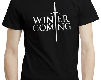 Game Of Thrones Inspired Winter Is Coming Stark T shirt Tshirt Tee
