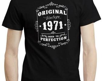 45th Birthday Gift Original Vintage 1971 T shirt Tshirt Tee Gift Funny