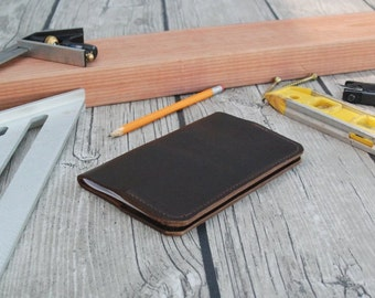 Leather notebook cover for Field Notes or Moleskine Cahier Journal