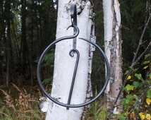 Hand Forged Dinner Bell, Circle Bell