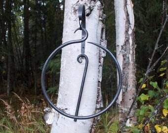 Dinner Bell/Hand Forged Dinner Bell/ Circle Bell/Handmade Gift/Blacksmith Art/Metal Art