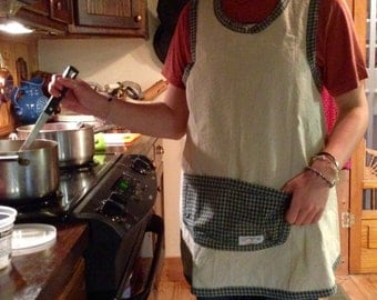 Hand Made Cotton / linen Apron