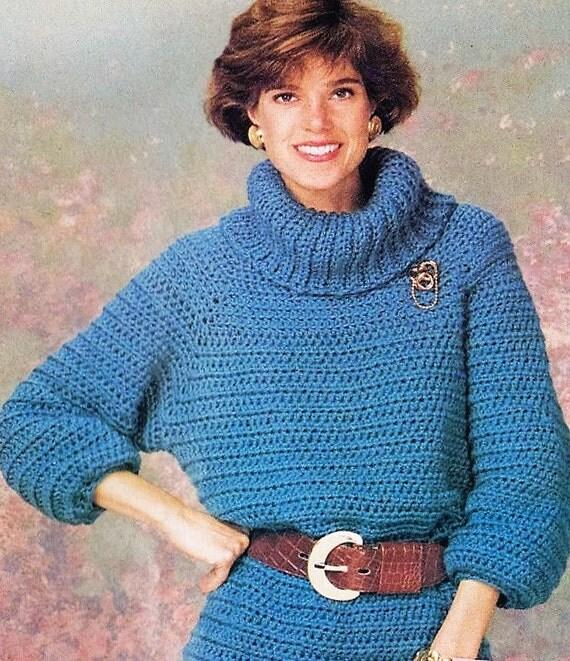 Crochet Turtleneck Sweater Pattern Raglan Pullover Sweater