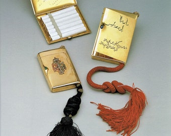 Faberge Mecklenburg, Giclee Print, Persian, Royal Bulgarian Cigarette Cases, Fine Art Print, Wall Decor, Wall Art, Russian Artifacts, Art