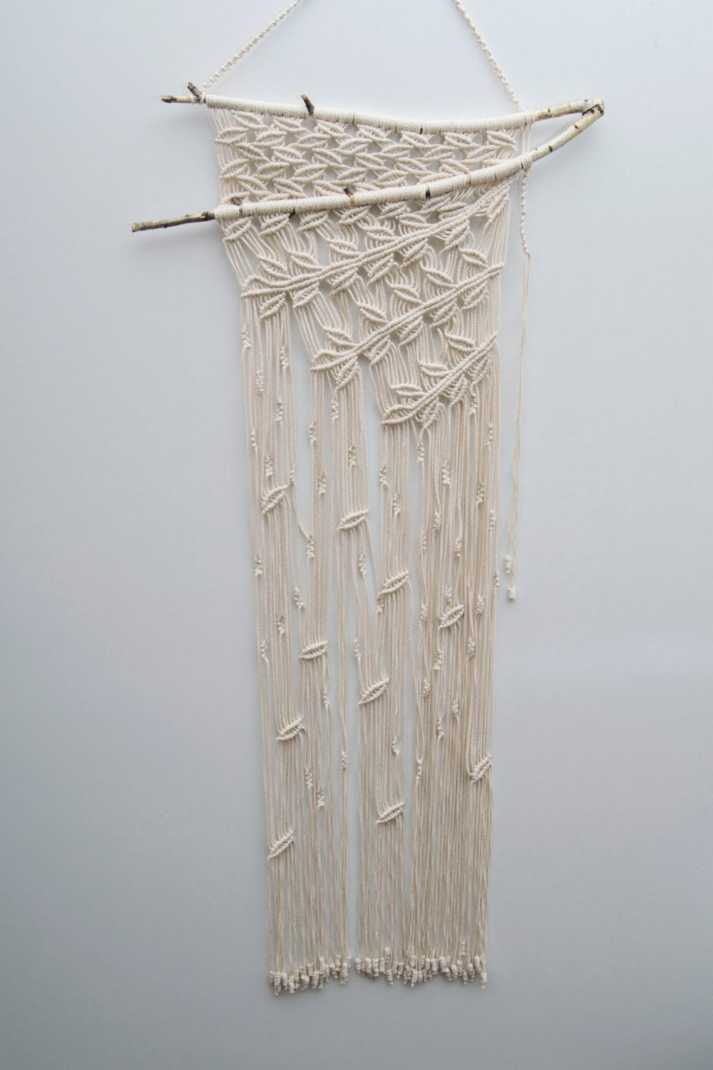 Macrame wall decor wall hanging simple by magicalsweetdreams for Wall hanging