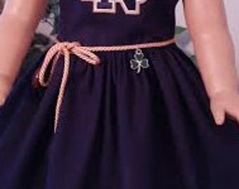 Notre Dame dress fits 18 inch dolls including American Girl Doll