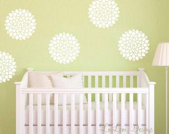 Flower Wall Decals - Flower Decals- Bloom Decals WallPaper- Bloom Decals- Wallpaper decals, Nursery Decals