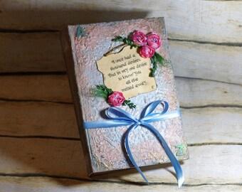BIG Fairytale Wedding Guestbook, Fairy tale Photo Album, Alice in Wonderland, Cinderella Guest book, Storybook, Blush Pink Pale Blue