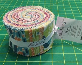 "FLORA Design Roll by Joel Dewberry for Free Spirit Fabrics ~ 30 Cotton 2.5""x44"" PreCut Quilting Strips"