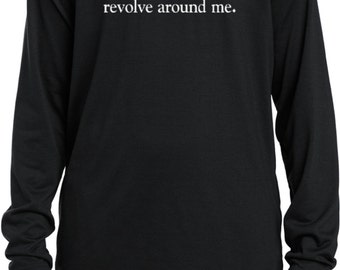 As a Matter of Fact, The World DOES Revolve Around Me Kids Moisture Wicking Long Sleeve Tee T-Shirt REVOLVES-YST700LS