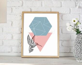 Bird Geometric Illustration art print