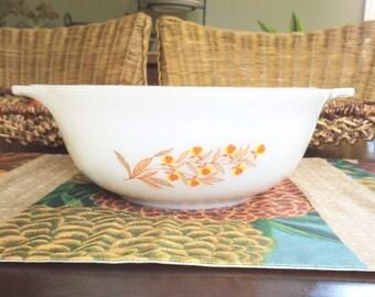 Jewel Tea Autumn Leaf Glasbake Bowl Hall Autumn Leaf Jeanette Glass Pyrex Milk Glass Bowl Mixing Bowl Vintage Kitchen Decor White Bowl