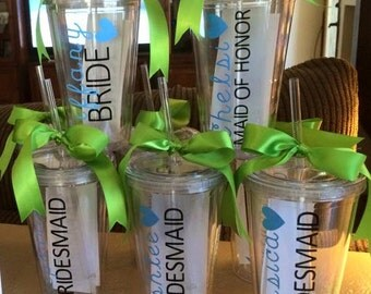 Bridal Party Personalized Tumblers (set of 4)