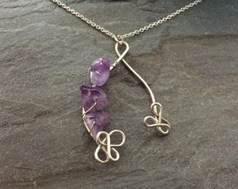 Silver Wish Amethyst Necklace (Small)