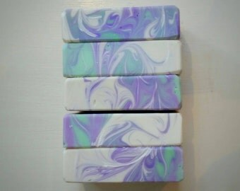 Provence || Lavender Mint Soap || Purple Soap || Cold Process Soap || Mint Soap || Spearmint Soap || French Soap|| Peppermint Soap ||