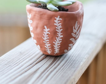 Hand Decorated Succulent Planter