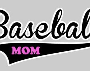 custom BASEBALL MOM shirt vinyl personalized