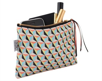 Printed zipper pouch/Original ANJESY Designs/gift for her.