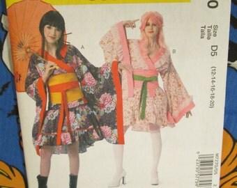 Mori kawaii kimono top and skirt with Obi belt sewing pattern Mccalls m7270