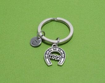 Good Luck Keychain, Horseshoe Keychain, Good Luck Horseshea, Lucky, Superstition, Personalized, Customized, Engraved, Monogram, Initial