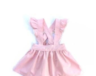 Light Pink Suspender Skirt