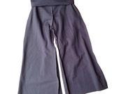 Kids Yoga Pant with Fold Over Waist, Charcoal Grey