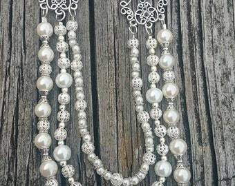 Elegant 3 Strand Pearl Necklace