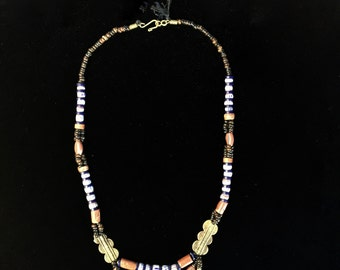 Handmade Middle Eastern Beaded Tribal Necklace