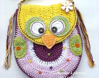 PATTERN - Owl handbag - crochet pattern,  handbag, Purse, PDF