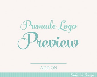 Premade Logo Preview Try Before You Buy