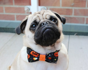 Halloween Dog Bow Tie, Halloween Dog Costume, Halloween Cat Bow Tie, Dog Bow Tie, Pumpkin Bow Tie,
