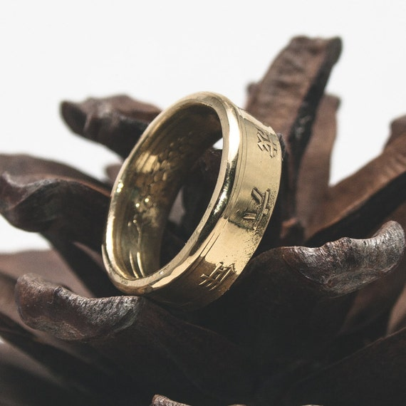 coin jewelry sided coin ring japanese 5 yen by
