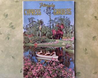 Vintage Florida Cypress Gardens Tour Souvenir Book - Collectible Memorabilia - Scrapbooking Arts & Crafts Supply - 1950's Technicolor Photos