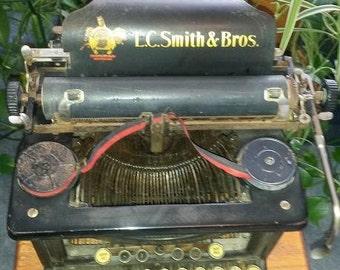 Vintage / Antique L.C. Smith & Bros.Typewritter #8
