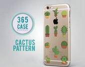 Pattern iPhone 6 Case Cactus Transparent Case Clear Cactus iPhone 6S Case Green Print iPhone 5 Case Pattern iPhone 4S Case Cover