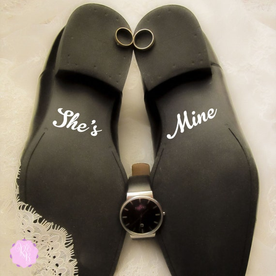groom shoes decal she 39 s mine wedding shoes sticker. Black Bedroom Furniture Sets. Home Design Ideas
