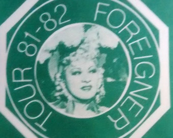 Satin Backstage Pass 1981-82 Vintage Authentic! Foreigner 4 Tour Mae West Image EX Condition