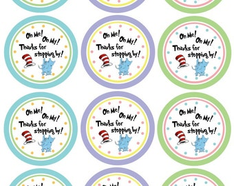 Dr. Seuss Thank You Gift Tags for Parties