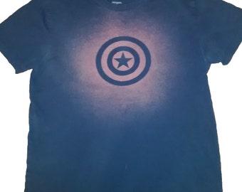 Captain America Bleached T-shirt