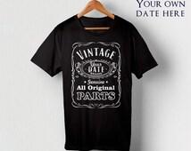 Birthday Gift For Him Custom Shirt Personalized Shirts Custom T shirts Design Your Own Custom TShirt 59th Birthday 49th Birthday 69th Ideas