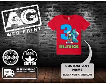 Monsters Inc Birthday Shirt - Monsters University Birthday Shirt.