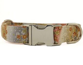 Asian Floral Dog Collar, Adjustable