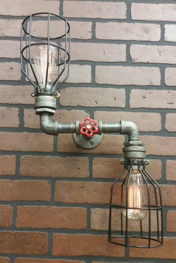 Zig Zag Wall Light Steampunk Light Vanity Light Bathroom