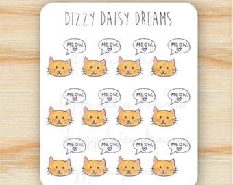 Kitty Cat Meow Stickers
