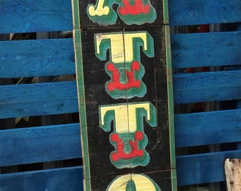 Tattoo Shop Sign Handmade recycled Wood Art One off