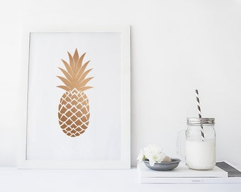 PINAPPLE Print, Fruit Print, Ananas Print, Fruits and Vegetables Decor, Kitchen Wall Decor, Digital Download Print