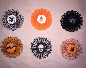 Whimsical Halloween Paper Rosette Decorations