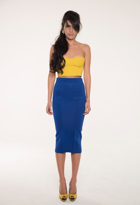 High Waisted Skirt Pencil Skirt Bodycon Skirt Midi Skirt