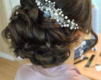 Bridal Hair Comb Bridal Headpiece Comb for Bride Hair wedding accessory Wedding Hair Comb Bridal Hair Accessories Pearl Comb hair piece vine