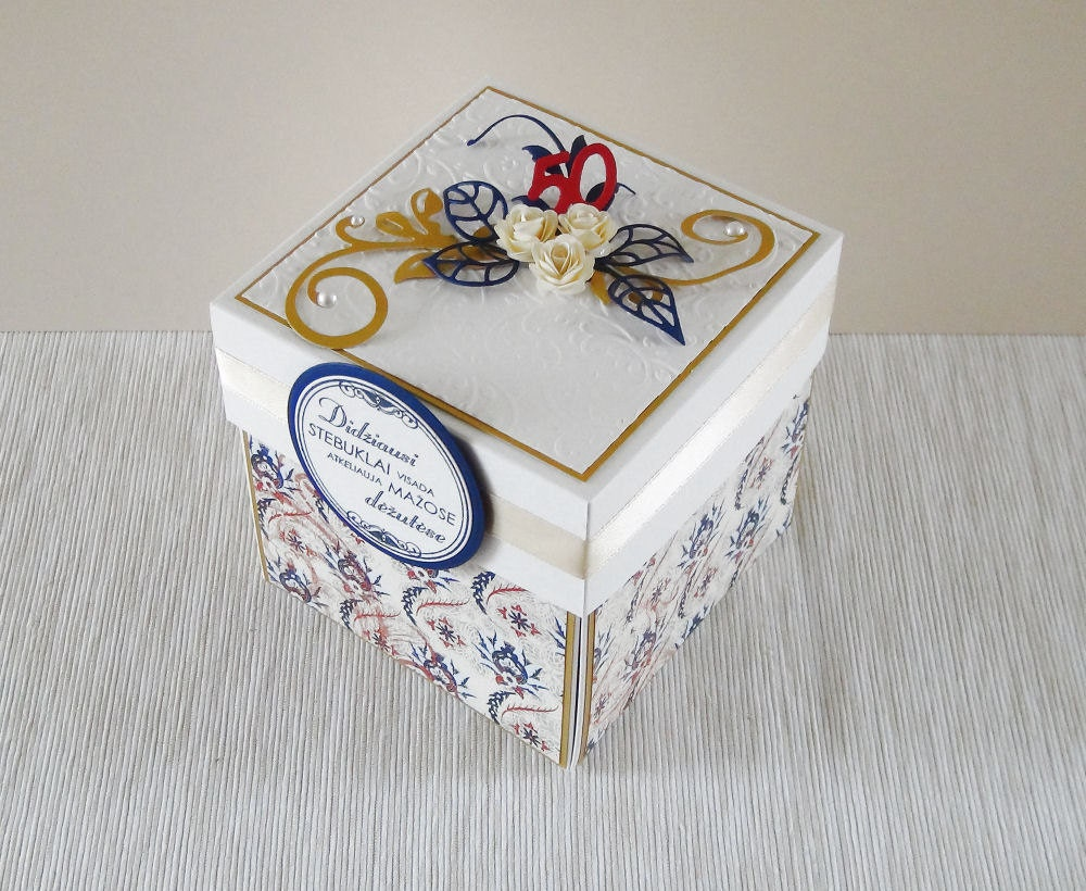 Happy anniversary card exploding box gift for mom th